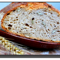 Kváskový chleba s dýňovým semínkem