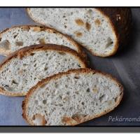 Klasický kváskový chléb se škvarky (z remosky nebo trouby)