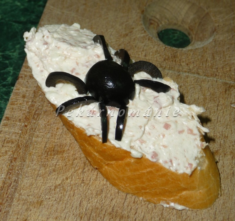 Pavoučci - na jednohubky, chlebíčky nebo chlebové dorty