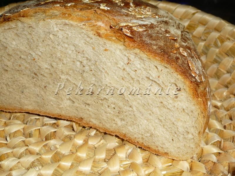 Podmáslový chléb s pizza moukou