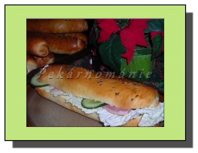 Bagety s bramborovou pomazánkou