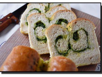 Rolovaný chléb s medvědím pestem
