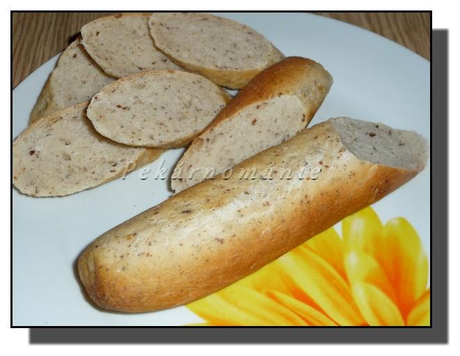 Pšeničné kváskové bagety se lněným semínkem