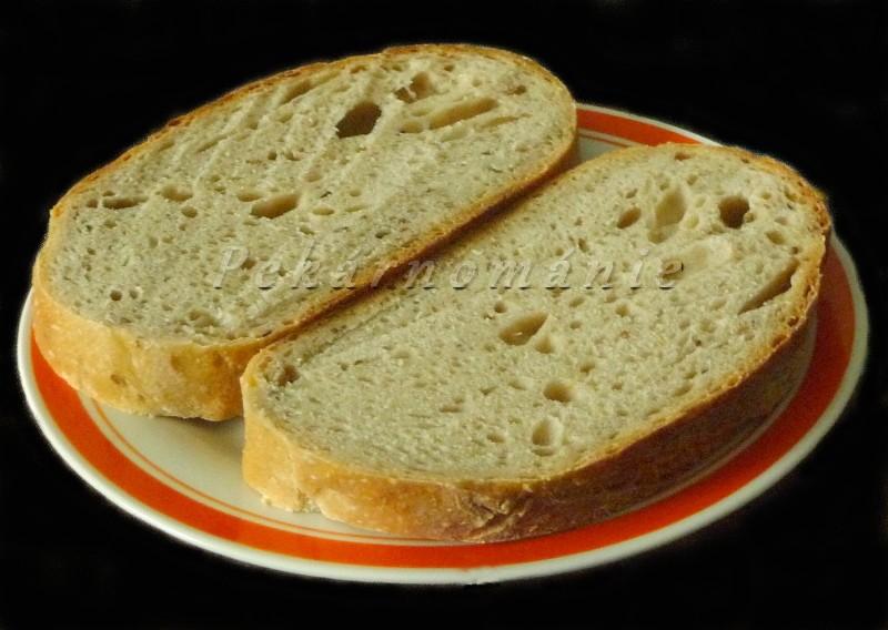 Pšenično-žitný kváskový chléb pro začátečníky