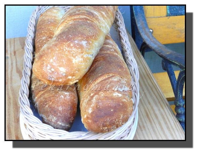 Bagety se starým těstem (old dough, pâte fermentée)