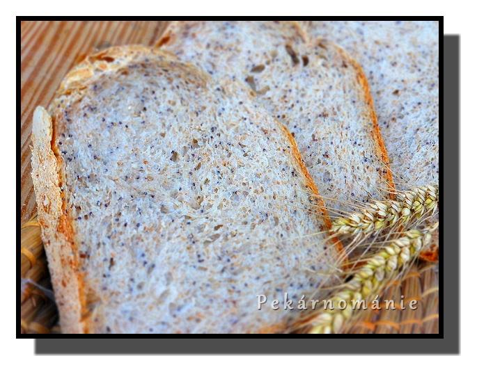 Obyčejný chleba s mákem a otrubami